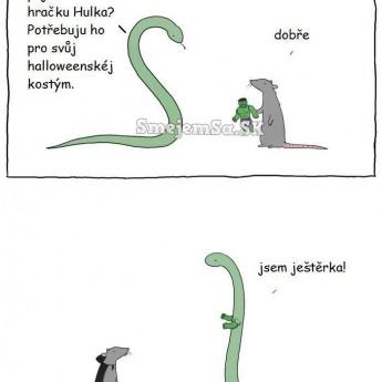 Halloweensky kostým hada