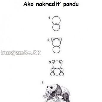 Ako nakresliť pandu