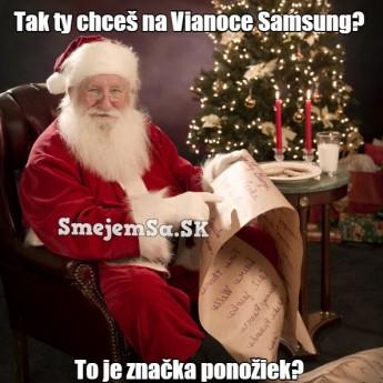 Samsung na Vianoce