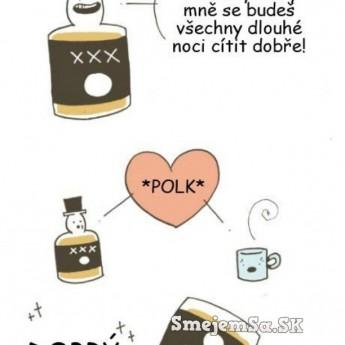 Káva a whisky