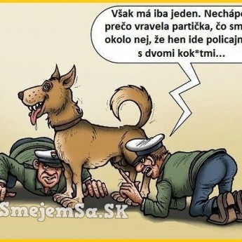 Dvaja policajti a pes