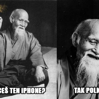 Ako na iPhone dievčence