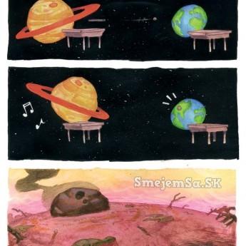 Jupiter a Zem v škole