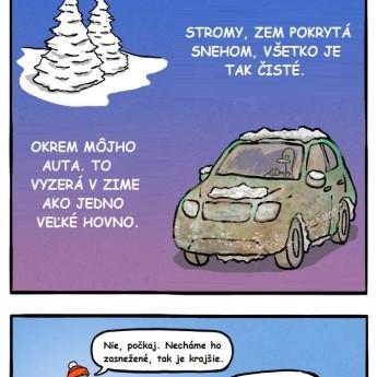 Autá a sneh