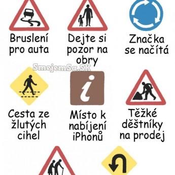 Dopravné značky trocha inak