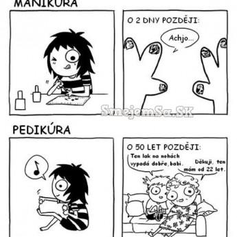 Manikúra vs. pedikúra