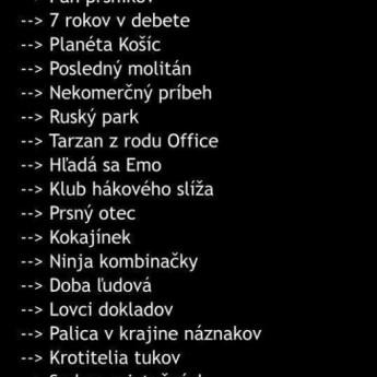 TOP filmy na Slovensku :D