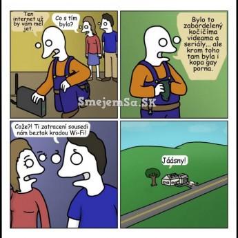 Problém s internetom