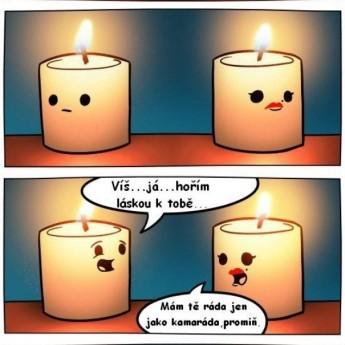 Sviečková romantika