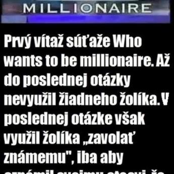 Prvý milionár