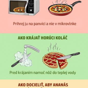 15 užitočných rád z kuchyne