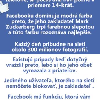 Zaujímavé fakty o Facebooku